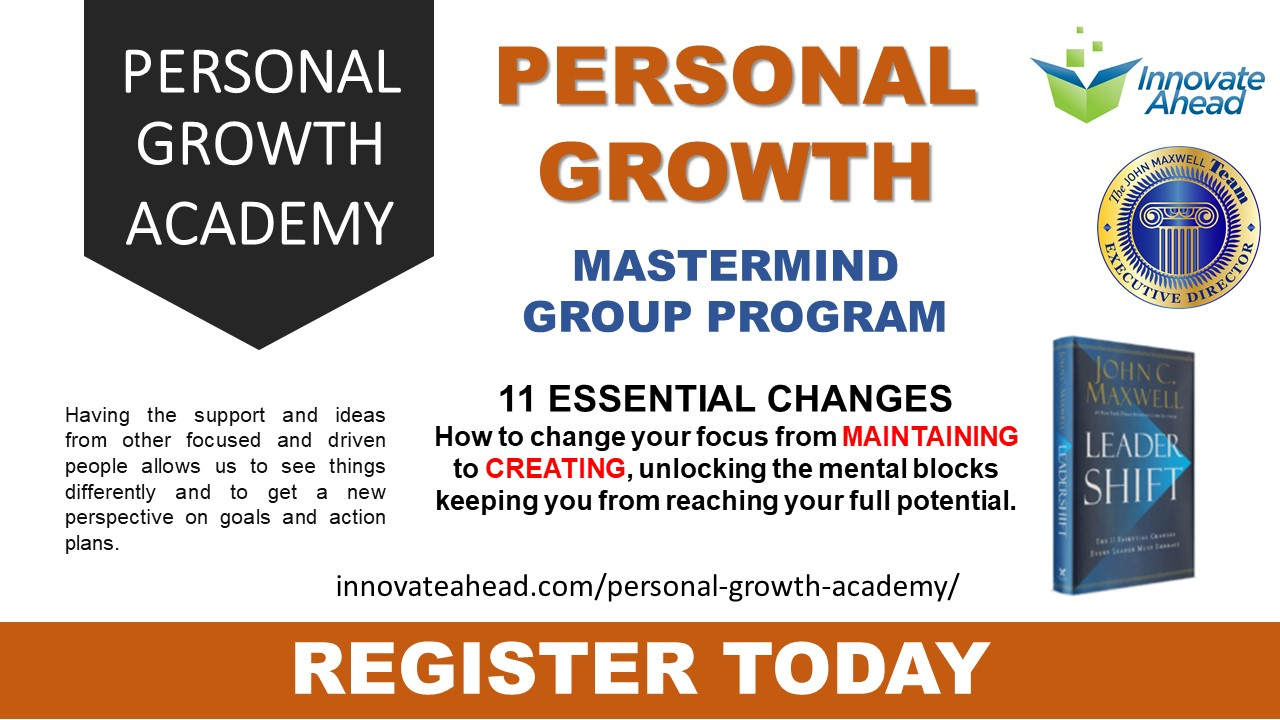 Innovate Personal Growth Academy for working professionals and Managers